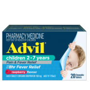 Advil Children Pain & Fever Relief Chewable Tablets 2-7 Years